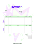 Kid Star Invoice