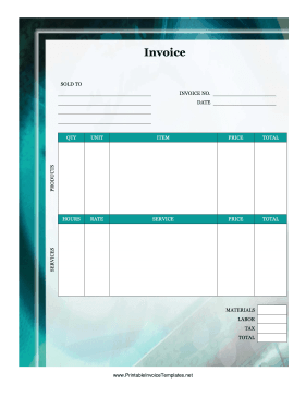 Computer Invoice template