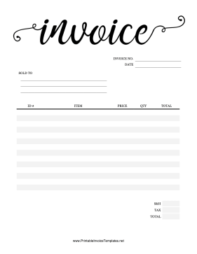 Fancy Invoice template