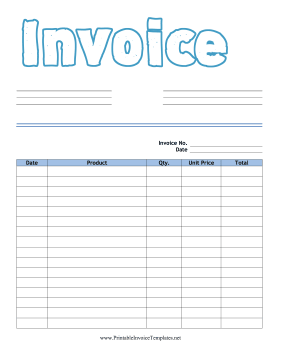 Kid Invoice Product template