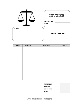 Printable Invoice Templates  Legal Invoice Template