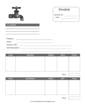 Plumber invoice template pronofoot35fo Image collections
