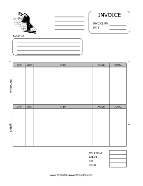 roof repair invoice sample Invoice Template