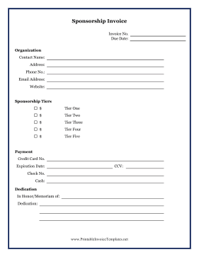 Sponsorship invoice template word | templates free printable.