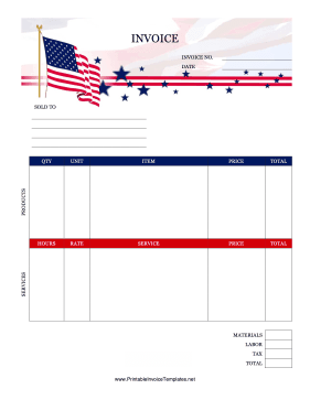 USA Invoice template