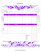 Flowery Invoice template
