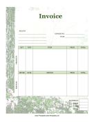 Forest Invoice template