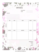Rose Invoice template