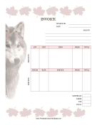 Wolf Invoice template